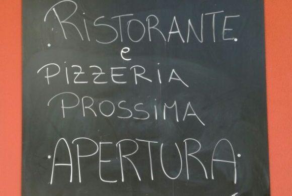 Inaugurazione Ristorante e Pizzeria giovedi 24 dalle 18:30