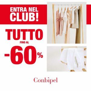 Conbipel: fin a -60% in esclusiva per il club