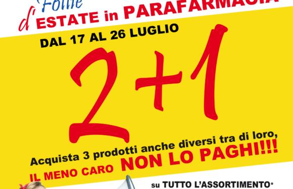 Offerta Farmafree: 2+1!