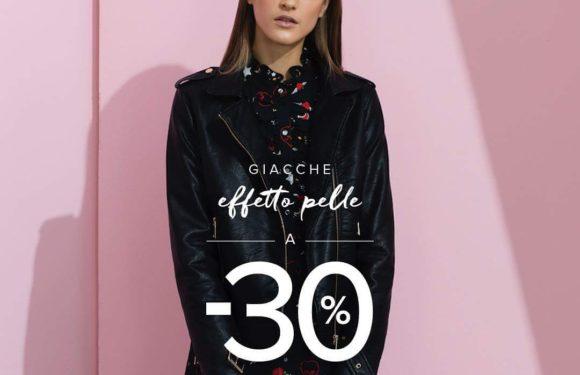 Da Motivi -30% sulle giacche effetto pelle