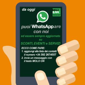 Da oggi puoi WhatsAppare con noi!!!!
