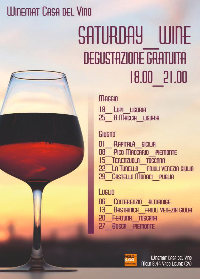 Saturday Wine sabato 1 giugno: Rapitalà