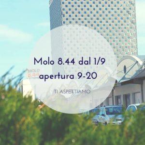 Nuovi orari di apertura del Molo 8.44