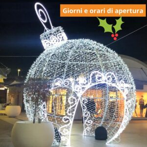 Auguri di buone feste e aperture natalizie
